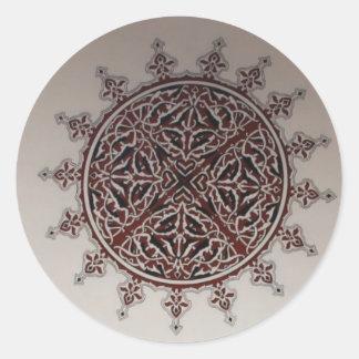 Interior Arabic Style Design Round Sticker