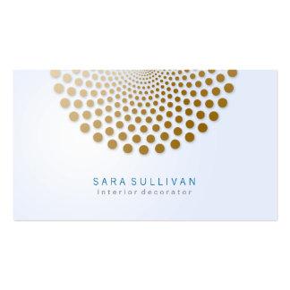 Interior Decorator Business Card Circle Dots Motif