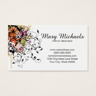 Interior Decorator Business Card Design Template