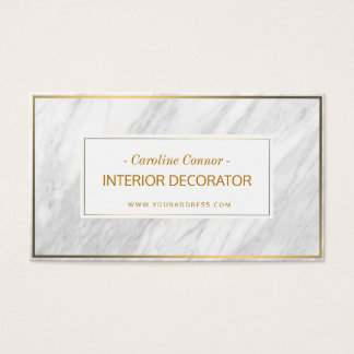 Interior Decorator Marble Stone Golden Line Card