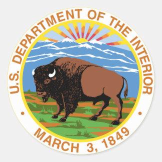 Interior Department Round Sticker
