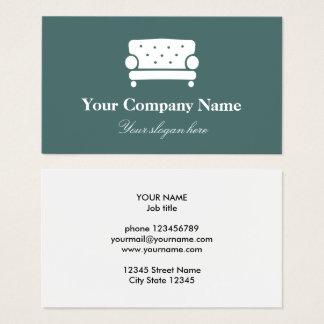 Interior design company logo elegant chair business card