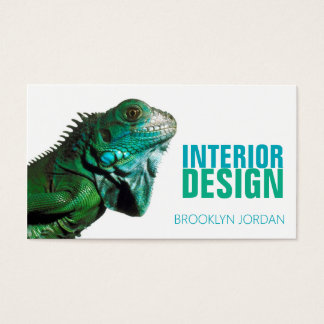 Interior design designer chameleon business card