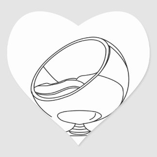 Interior design- egg chair heart sticker