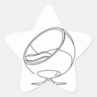 Interior design- egg chair star sticker