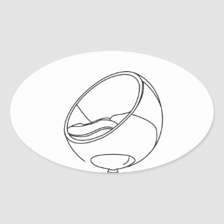 Interior design- egg chair oval stickers