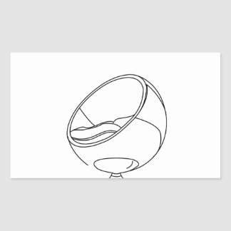 Interior design- egg chair rectangle stickers