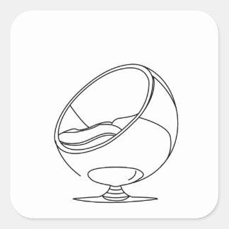 Interior design- egg chair square sticker