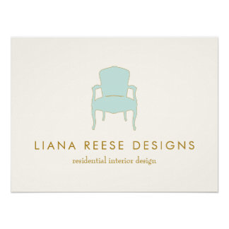 Interior Design French Chair Poster