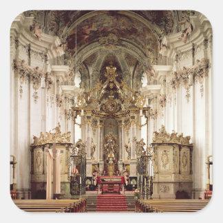 Interior designed by Balthasar Neumann 1734-54 Square Stickers