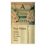 INTERIOR DESIGNER, ARCHITECTURE Monogram,gold Business Cards
