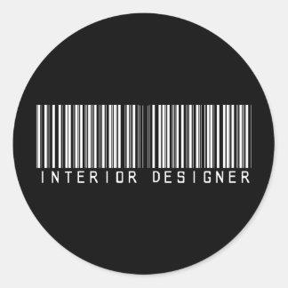 Interior Designer Bar Code Stickers