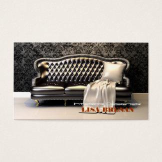 Interior Designer Black Sofa Business Card