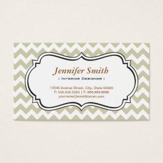 Interior Designer - Chevron Simple Jasmine Business Card