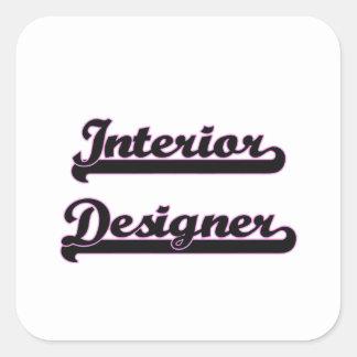 Interior Designer Classic Job Design Square Sticker