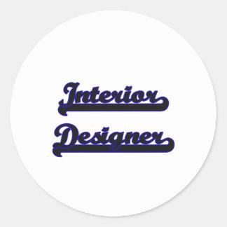 Interior Designer Classic Job Design Classic Round Sticker