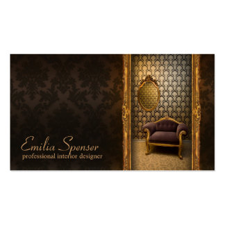 Interior Designer Classic Style Chocolate Card Pack Of Standard Business Cards