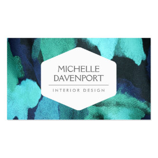 INTERIOR DESIGNER, DECORATOR, FLORAL FABRIC PACK OF STANDARD BUSINESS CARDS