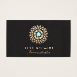 Interior Designer Elegantes Gold Motiv Visitenkart Business Card