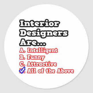 Interior Designer Quiz...Joke Stickers