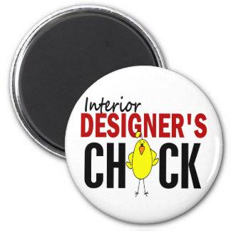 INTERIOR DESIGNER'S CHICK 2 INCH ROUND MAGNET