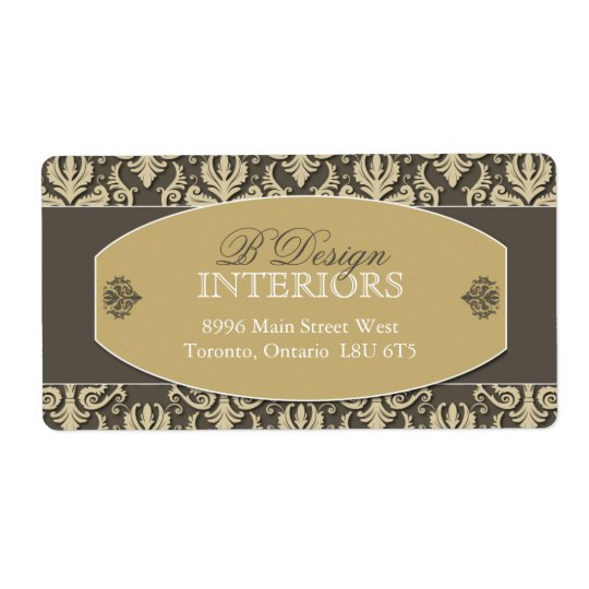 Interior Designer Shipping Labels