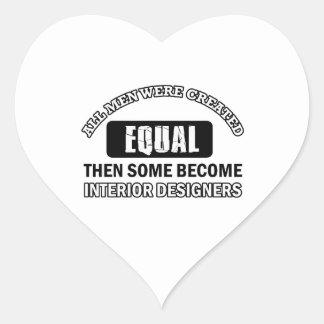 interior designers designs heart sticker