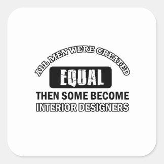 interior designers designs square sticker