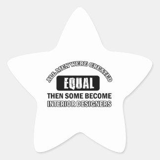 interior designers designs star sticker