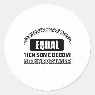 interior designers designs classic round sticker