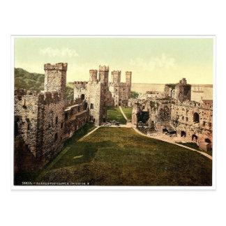 Interior, looking east, Carnarvon Castle (i.e. Cae Postcard
