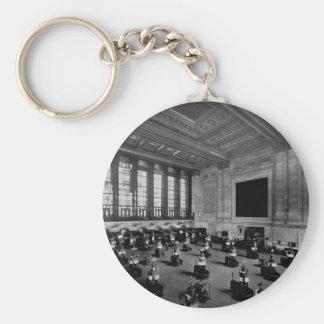 Interior New York Stock Exchange Lower Manhattan Keychain