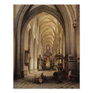 Interior of a Church, 1840 Poster