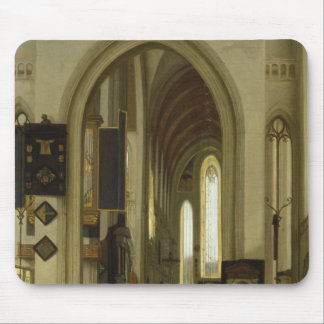 Interior of a Church with Figures, 1685 Mouse Pad
