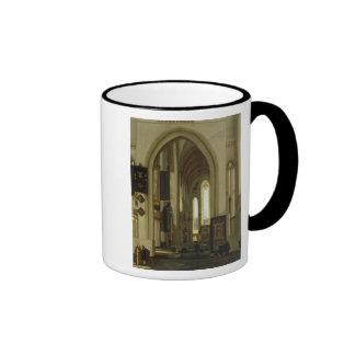 Interior of a Church with Figures, 1685 Coffee Mug