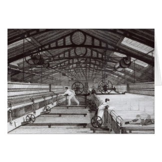 Interior of a Cotton Mill Card