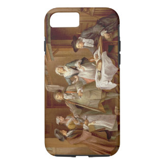 Interior of a Kitchen with Figures Tasting Wine iPhone 7 Case
