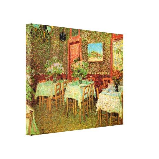 Interior of a restaurant by Vincent van Gogh Canvas Print