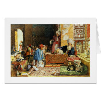 Interior of a School, Cairo, 1890 (w/c) (see also Card