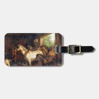 Interior of a Stable by George Morland Luggage Tag