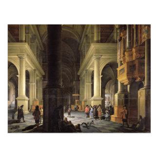 Interior of a Temple, 1652 Postcard
