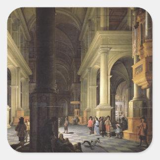 Interior of a Temple, 1652 Square Sticker