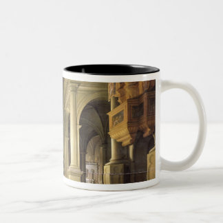 Interior of a Temple, 1652 Two-Tone Coffee Mug