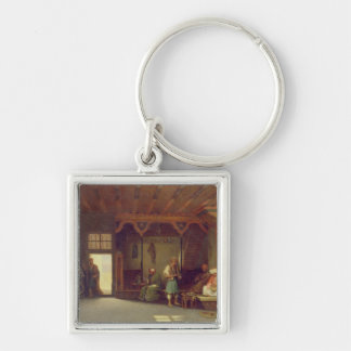 Interior of an Oriental Cafe Keychains