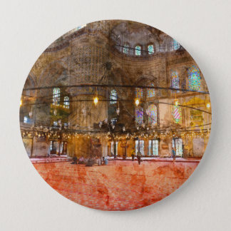 Interior of Blue Mosque in Istanbul Turkey 4 Inch Round Button