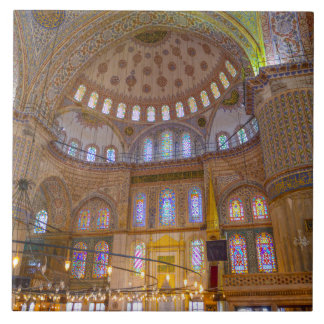 Interior of Blue Mosque in Istanbul Turkey Tile