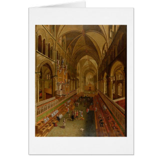 Interior of Canterbury Cathedral, c.1675-1700 (oil Card