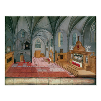 Interior of Church, from 'L'Abbaye de Poster