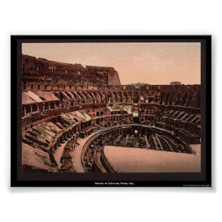 Interior of Coliseum, Rome, Italy Poster