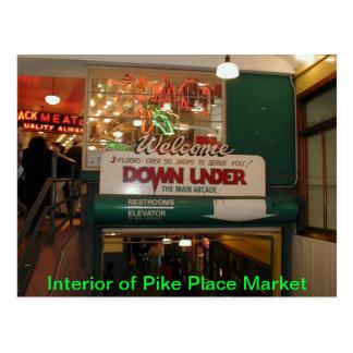 Interior of Pike Place Market Seattle, WA Postcard